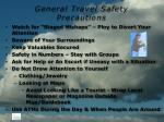 general travel safety precautions