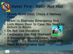 hotel fire door not hot