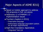 major aspects of asme b31q