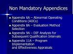 non mandatory appendices1