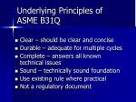 underlying principles of asme b31q1