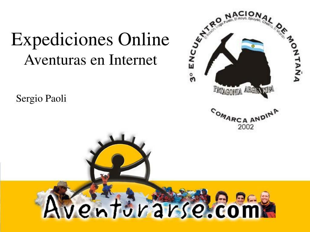 expediciones online aventuras en internet