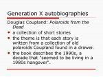 generation x autobiographies