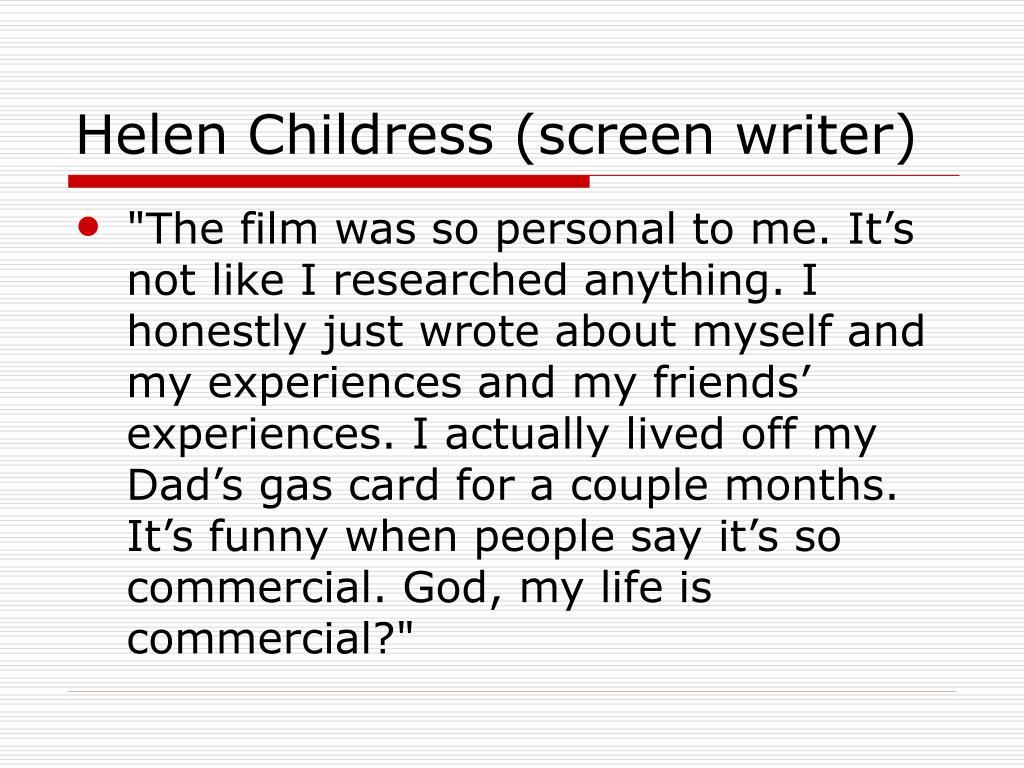 Helen Childress (screen writer)