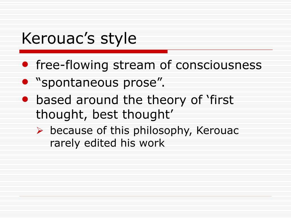 Kerouac's style
