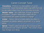 career concept types