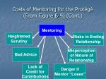 costs of mentoring for the prot g from figure b 9 cont