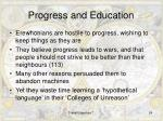 progress and education