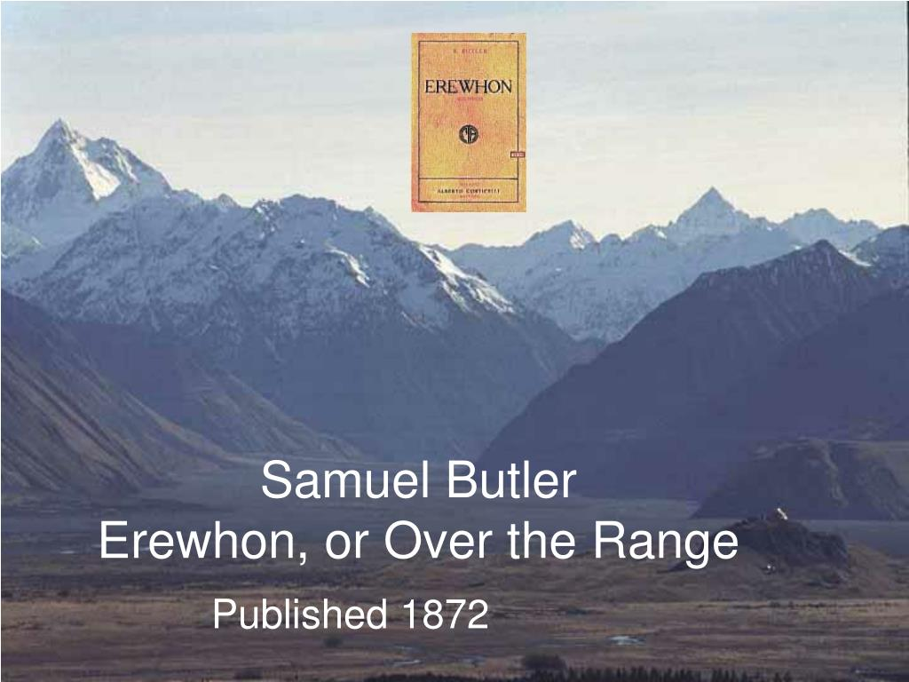 samuel butler erewhon or over the range l.
