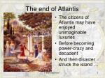 the end of atlantis