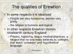 the qualities of erewhon