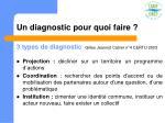 un diagnostic pour quoi faire