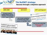 the nupnet strategy success through a stepwise approach
