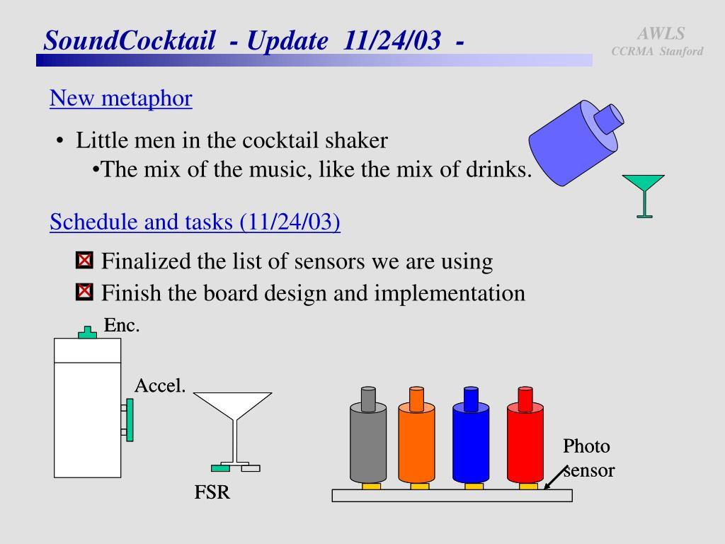 soundcocktail update 11 24 03