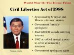 civil liberties act of 1988