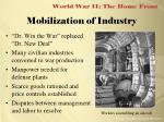 mobilization of industry