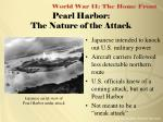 pearl harbor the nature of the attack