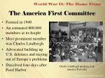 the america first committee
