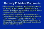 recently published documents1