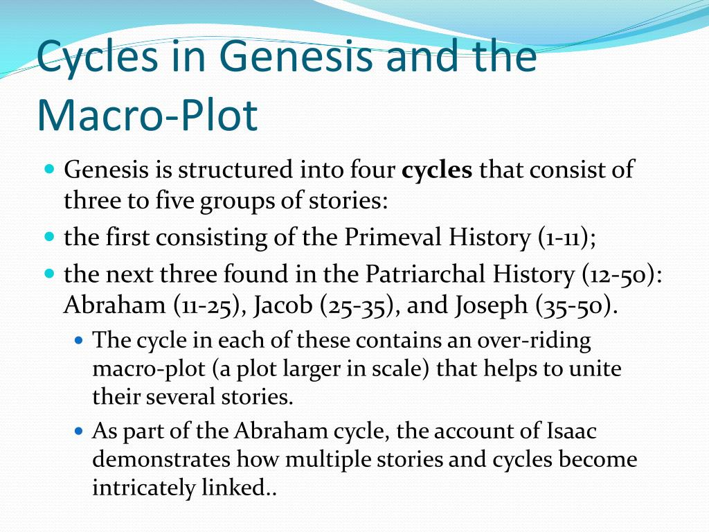 Cycles in Genesis and the Macro-Plot