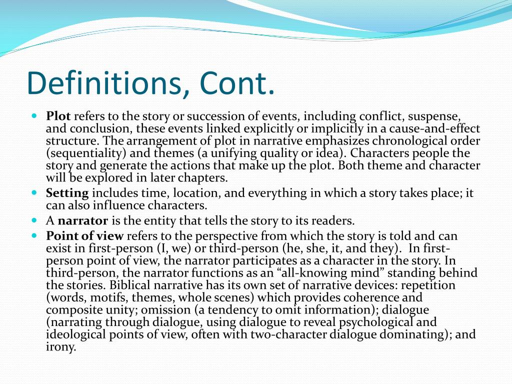 Definitions, Cont.