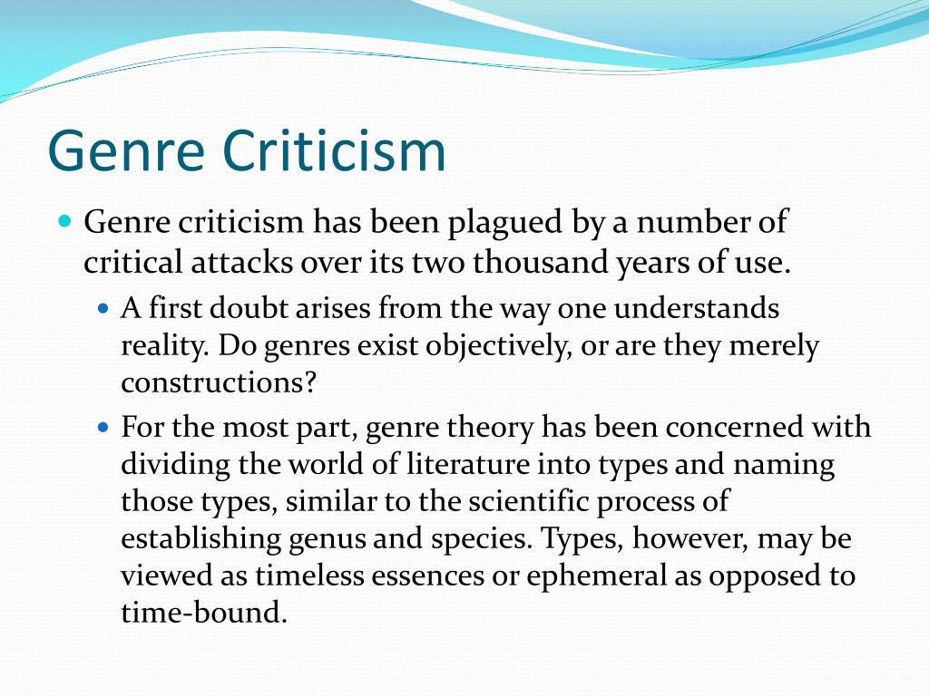 Genre Criticism