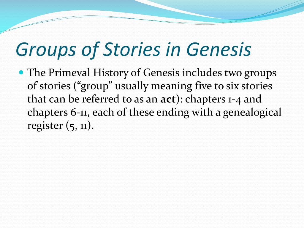 Groups of Stories in Genesis