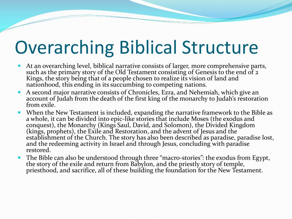 Overarching Biblical Structure