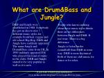 what are drum bass and jungle