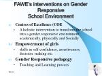 fawe s interventions on gender responsive school environment