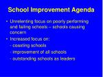 school improvement agenda