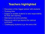 teachers highlighted