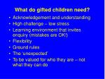 what do gifted children need