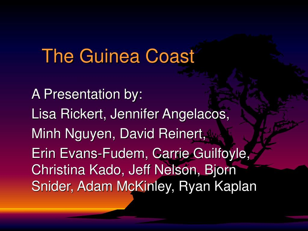 the guinea coast l.