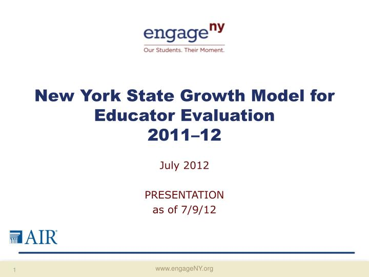 new york state growth model for educator evaluation 2011 12 n.