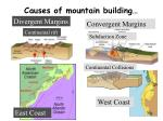 causes of mountain building