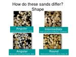 how do these sands differ shape