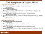 the interpreter s code of ethics1