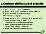 a continuum of differentiated instruction2