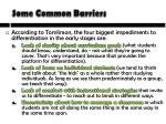 some common barriers