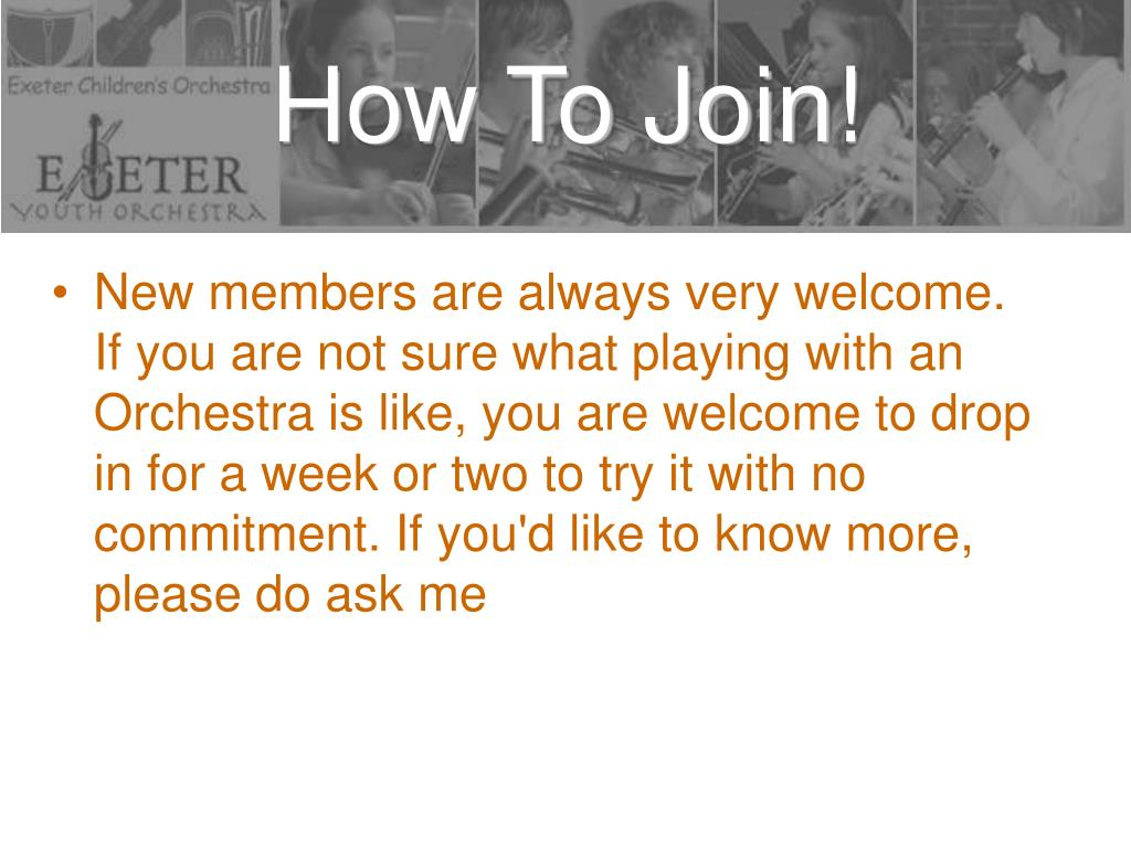 How To Join!