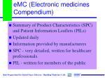 emc electronic medicines compendium