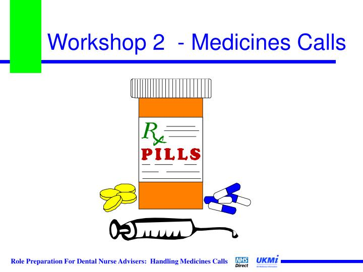 Workshop 2  - Medicines Calls