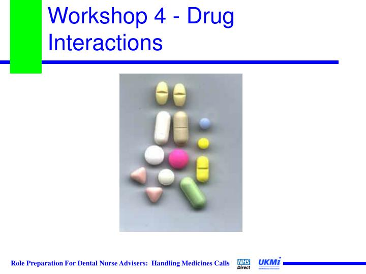 Workshop 4 - Drug Interactions