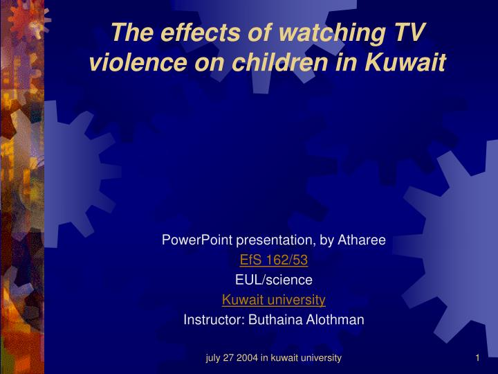 outline tv violence and children Essay on youth violence and media there has been a lot of research conducted on the notions that violence portrayed in media - such as television, video, film, music, newspapers and books - can have adverse effects on the children viewing it.