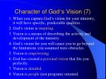 character of god s vision 7
