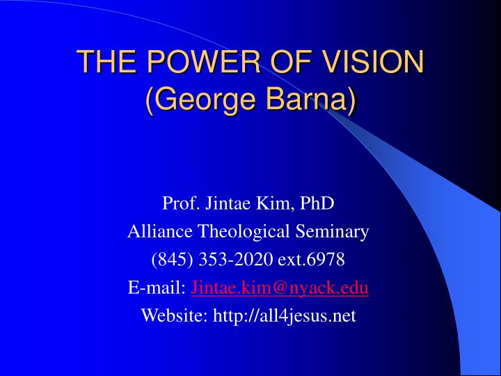 the power of vision george barna n.