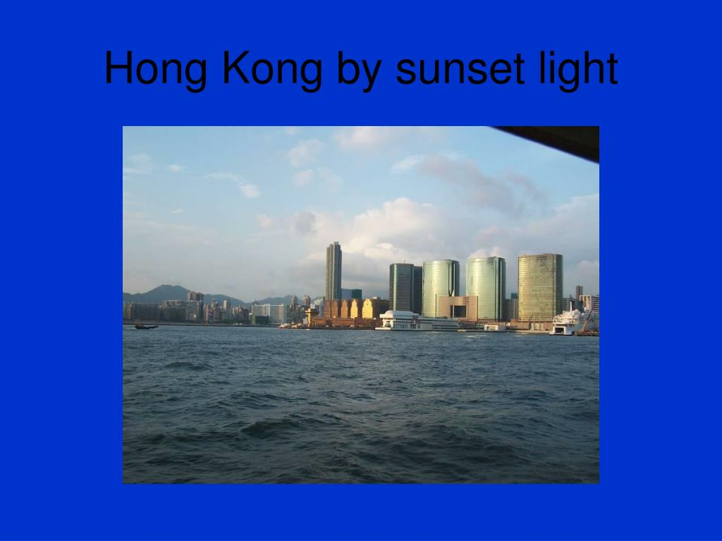 Hong Kong by sunset light