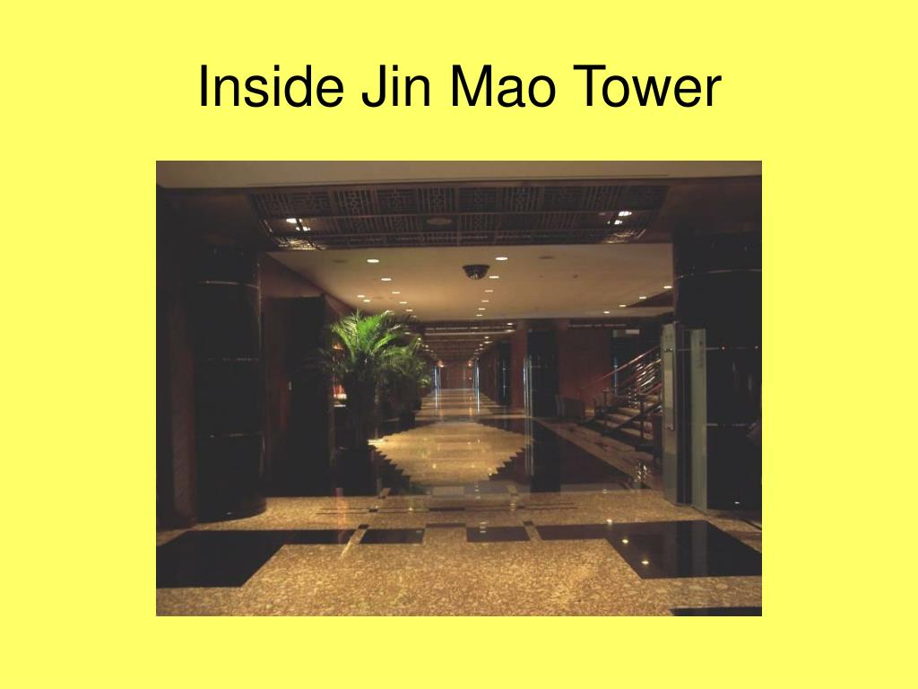 Inside Jin Mao Tower