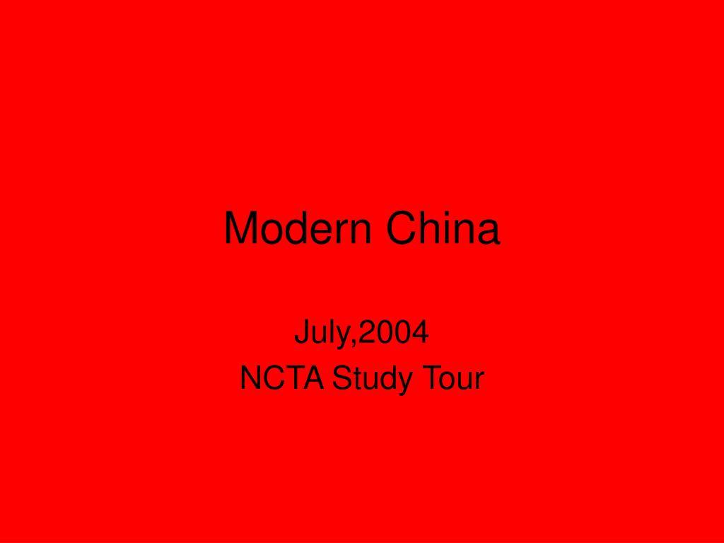 modern china l.